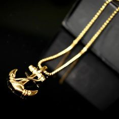 A beautiful minimalist anchor design for those who value resilience and perseverance. The high quality stainless steel and luxurious 26 inch rolo cable chain will have you looking for any excuse to put the Gold Anchor Necklace on. Can be worn with any attire, from casual to formal. Grandpa Gifts, Gifts For Dad, Great Gifts, Men Gifts, Anchor Necklace, Unisex Gifts, Gifts For Your Boyfriend, Card Wallet, Tan Leather