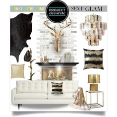 """Project Decorate: Sexy Glam With Honey We're Home"" by ambervogue on Polyvore"