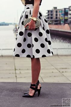"black & white dots are just as versatile as stripes - and more ""you"" if you have a feminine or playful aesthetic."