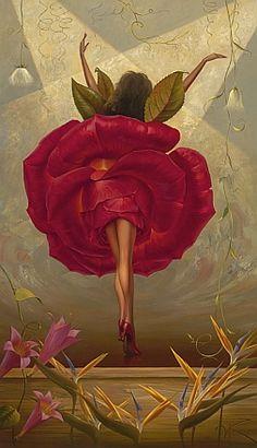"""""""Flamenco Dancer"""" by Vladimir Kush."""