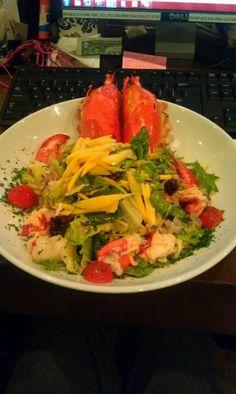 Lobster Mango Salad - Crustacean Beverly Hills Crustacean Beverly Hills, Lobster Salad, New Years Eve Dinner, Mango Salad, Cabbage, Foods, Chicken, Vegetables, Party
