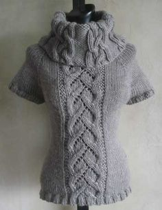 Knitting+Ideas | ... neck knitting pattern from sweaterbabe patterns for knitting 350x455