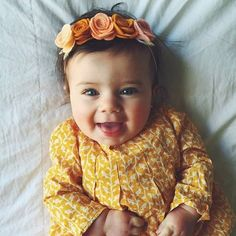 Happy baby...in yellow.