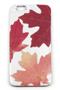 Silver Leaf iPhone 6 Case <3 Really drooling over this bold Maple Leaf design!