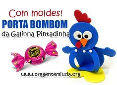 Aprenda a fazer estes 02 modelos de lembrancinhas para festa da Galinha Pintadinha. Sugestões de lembrancinhas de EVA da Galinha Pintadinha...