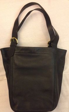 Vintage Coach Black Cowhide Satchel Extra Large Tote Bag Purse Hobo (USA) 30a9930b05