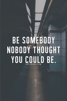 """Dare to be different 