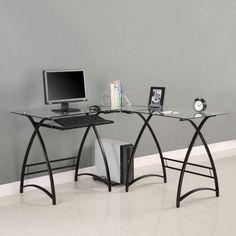 Tastatur Schublade Für Glas Schreibtisch Home Office Möbel Set | Büromöbel  | Pinterest | Glas Schreibtisch, Tastatur Und Schubladen