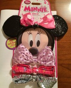 NEW Disney Store Minnie Mouse EARS HEADBAND with 4 changable bows dress up