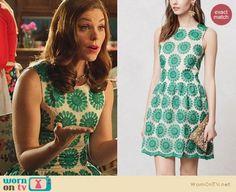 AnnaBeth's green floral dress on Hart of Dixie.  Outfit Details: https://wornontv.net/25817/ #HartofDixie