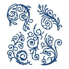 Tattered Lace - Dies - Florentine Flourish Set-Die Sizes range from approx: 1 to 2 Arabesque, Foam Crafts, Paper Crafts, Craft Foam, Card Crafts, Cricut Invitations, Tattered Lace Cards, Frantic Stamper, Glass Engraving