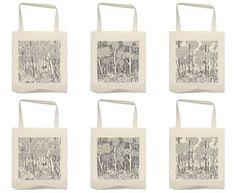tote bag motif dessin jungle illustrations réalisées au #rotring Pour ceux qui aimes la #nature, la #végétation Inspiration #tropical, #blackandwhite, #forest, #totebagcustom, #totebag #design