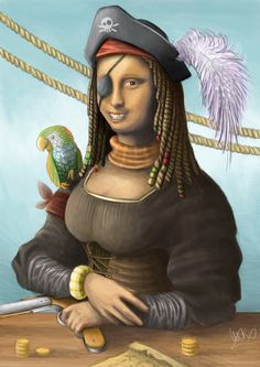 mona lisa-pirate [Stefan Kocevski] (Gioconda / Mona Lisa)