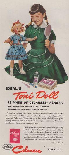 Vintage Ideal Toni Doll ad.