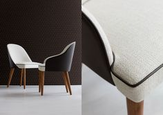 DINING ROOM   Judy chair in fabric and leather #fromitalywithlove #madebyhand