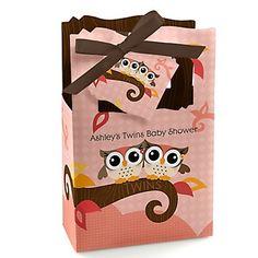 Owl Girl - Look Whooo's Having Twins - Baby Shower Theme | BigDotOfHappiness.com