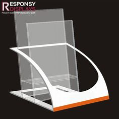 Counter Clear Acrylic Brochure Display Leaflet Holder