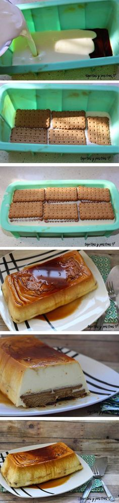 Tarta de queso y galletas Delicious Desserts, Dessert Recipes, Snack Recipes, Cooking Recipes, Yummy Food, Kombucha, Deli Food, Sweet And Salty, Kitchen Recipes
