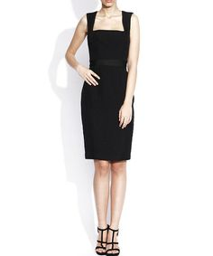Take a look at this Nissa: Black Textured Dress by Nissa on #zulily today!
