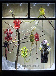 anthropologie, store displays, anthropologie store displays, window art, anthro, window displays, installations