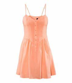 Peach Spaghetti Strap Sun Dress