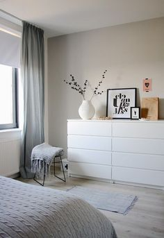 Ikea Malm in the bedroom - Ikea Malm in the bedroom - . Ikea Malm in the bedroom - Ikea Malm in the bedroom - Always wan. Decor Room, Bedroom Decor, Home Decor, Bedroom Ideas, Bedroom Designs, White Furniture In Bedroom, White Drawers Bedroom, White Bedroom Curtains, White Bedrooms