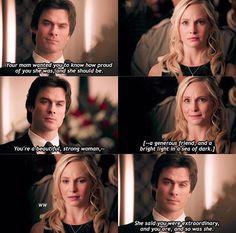 Wow moment between Caroline and Damon Beautiful