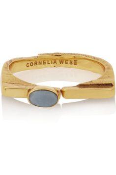 Cornelia Webb   Gold-plated opal ring   NET-A-PORTER.COM