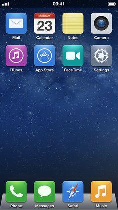 iOS 7 Home Screen Icons #ios7