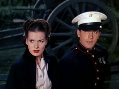 Maureen O'Hara and John Payne, To The Shores of Tripoli, 1942 Golden Age Of Hollywood, Classic Hollywood, Old Hollywood, John Payne Actor, Maureen O'hara, John Ford, Adventure Film, Movie Couples, Famous Stars