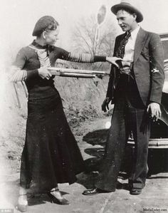 The infamous crime duo Bonnie and Clyde