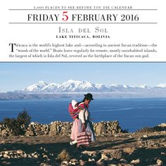 """Titicaca is the world's highest lake and--according to ancient Incan tradition--the """"womb of the world."""" #Bolivia #TodayIsGoingToBeAGreatDay #Inspiration #InspirationalQuote #Motivation #BestoftheDay #inspirations #myinspiration #inspirationquote #dailyinspiration"""