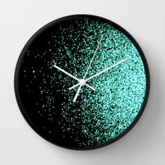 infinity in mint green Wall Clock by mariannatankelevich Cool Clocks, Unique Wall Clocks, Mint Green Rooms, Mint Green Decor, Green Wall Clocks, Design Rustique, Casa Retro, Room Deco, Clock Painting