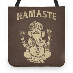Namaste Tote, radiate peace and tranquility with this Ganesha Namaste tote.