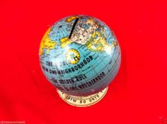 Vintage Golden Rule Globe Bank #30488 USA Foundation (small dent on top)
