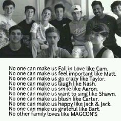 magcon quotes   Magcon family is lovely
