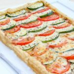 Tomato Zucchini and Cheese Tart a delicious appetizer or side.
