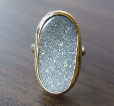 grey agate ring by #friedasophie - http://www.friedasophie.com