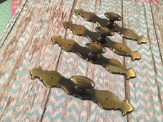 4 Vintage Back Plates & Knobs by SalvageArtsCreations on Etsy