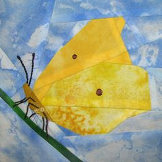 Claudias Quilts ~ Big Quilt of Nature ~ Zitronenfalter / Brimstone Butterfly
