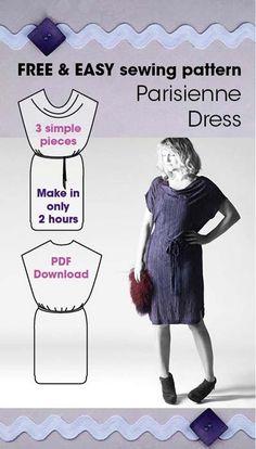 Parisienne Dress Free Pattern ~ Sew Different