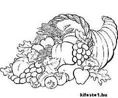 Thanksgiving horn of plenty holiday Embroidery Thanksgiving Coloring Pages, Fall Coloring Pages, Coloring Book Art, Apple Coloring, Coloring Pages To Print, Printable Coloring Pages, Free Adult Coloring, Relaxing Art, Religious Images