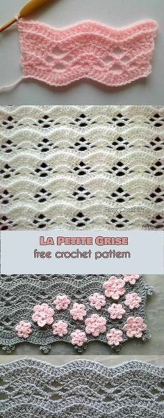 Petite Grise Free Crochet Pattern La Petite Grise Free Crochet Pattern This Eye Catching Stitch Will Be Perfect For Many Kinds Of Your Projects Like For Example Throws Scarfs Or Ponchos It Is Also The Perfect Choice La Petite Grise Free Crochet Pattern Crochet Motifs, Crochet Stitches Patterns, Knitting Patterns, Sewing Patterns, Crochet Afghans, Baby Afghans, Afghan Patterns, Crochet Designs, Baby Blanket Patterns