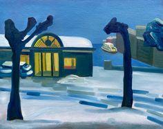 Oil on cardboard, 2020, www.dianadzene.com #art #artoftheday #bellagio #pescallo #italy #lakecomo #lagodicomo #oilapainting #winterpainting #viewfromwindow #winterview #artforhome #dianadzene #dianadzart #winterpainting #winterart #bellagioart Winter Painting, Winter Art, Original Paintings, Original Art, Art Students League, Z Arts, Old Master, Art Day, Home Art