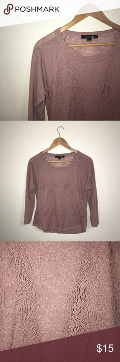 Mauve Lace Sweater 🌿✨ Fits small-medium as well! Reasonable offers accepted! Smoke-free home! Comment for details! Forever 21 Sweaters