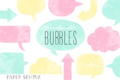 36 Speech Bubble Banner Pack by PaperSphinx on @creativemarket