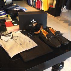 Aposte na elegância Dudalina. Camiseta, calça, cinto e sapato mocassim. #LojaDudalina #RadicalChic #ModaMasculina