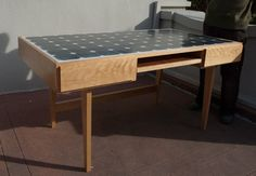 """Outstanding custom made desk to be appreciated in a larger home! I worked with a carpenter to create the design and his testimony is below:  """"Client works for a solar company and wanted a de..."""