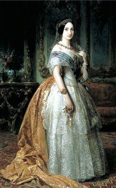Infante Louise Fernande de Bourbon, Duchesse de Montpensier by Federico de Madrazo. 1851. Museo del Prado