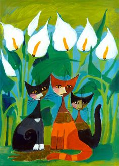 Chesterbrook Academy Elementary School, Raleigh, NC: (G2) Cats in art (Part II) The cats of Rosita Wachtmeister 2/3